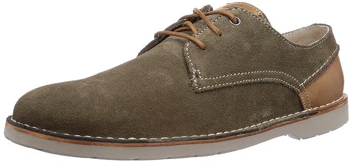 Clarks Hinton Fly - Zapato brogue de cuero hombre, color verde, talla 43