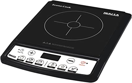 Inalsa Econo Cook 1600-Watt Induction Cooker (Black) Induction Cooktops at amazon