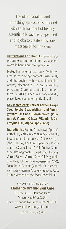 Eminence Apricot Body Oil, 8.2 Ounce : Eminence Organic Skin Care : Beauty