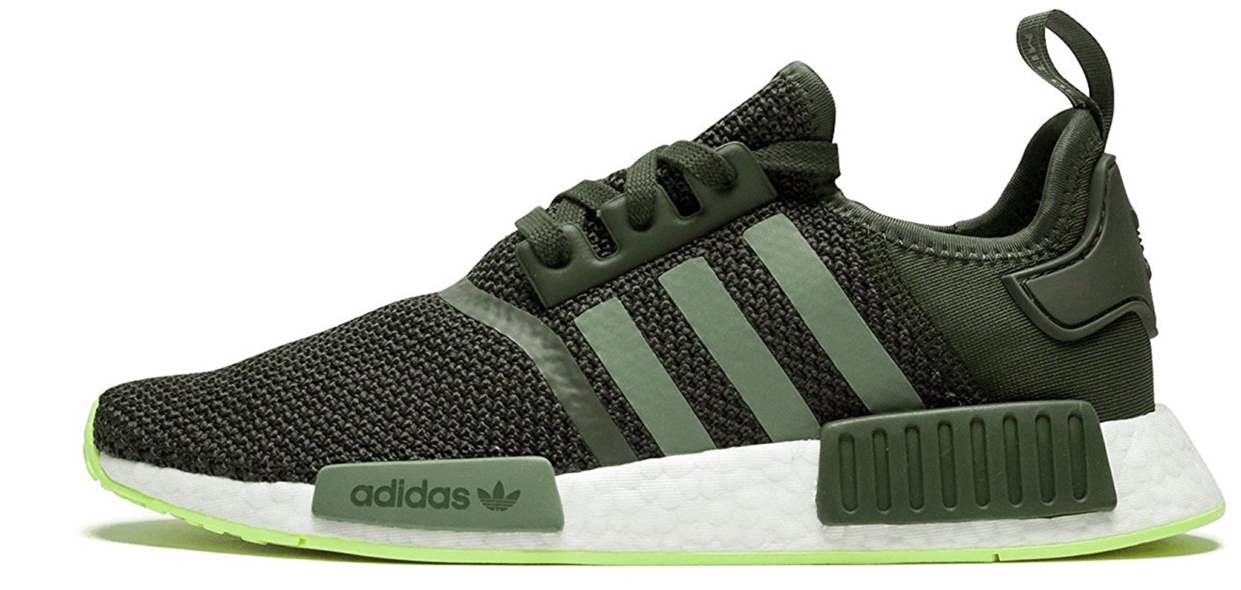 cheap for discount d9d79 c1bf9 Galleon - Adidas Mens NMD R1 Casual Sneakers,11.5 D(M) US, Night  CargoBase GreenSemi Frozen Yellow