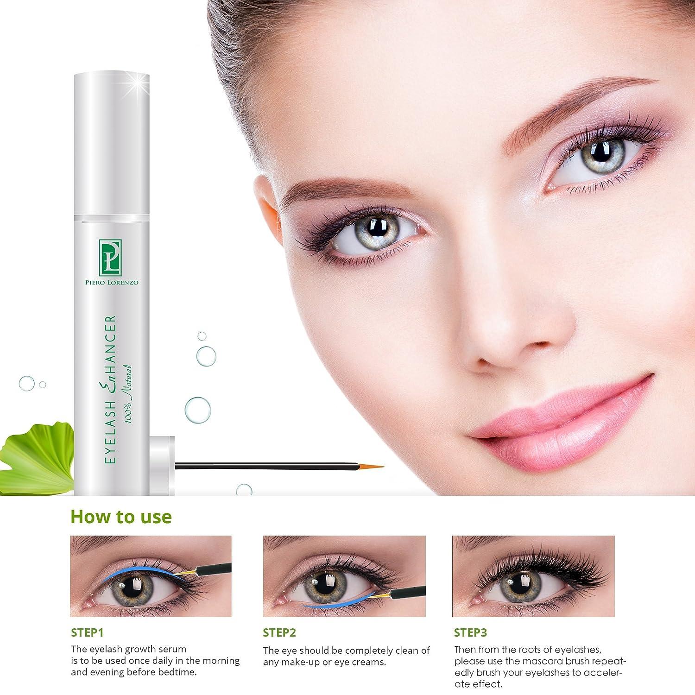 4a40ad732bd Tomiya Natural Extract Eyelash Growth Serum FEG Eyelash Enhancer for Longer,  Thicker and Fuller Eyelash Piero Lorenzo