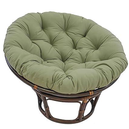Amazon Com Blazing Needles Solid Twill Papasan Chair Cushion 52 X