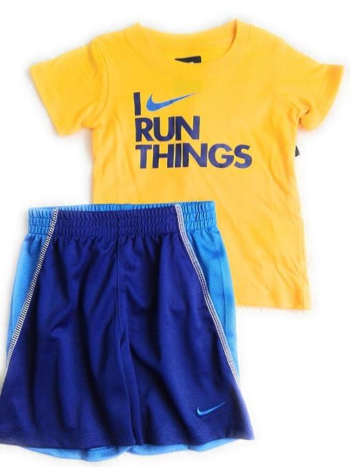 6118f0f56568 Amazon.com: Nike Baby Boys' 2-Piece I Run Things T-Shirt & Shorts Set 24  Months: Sports & Outdoors