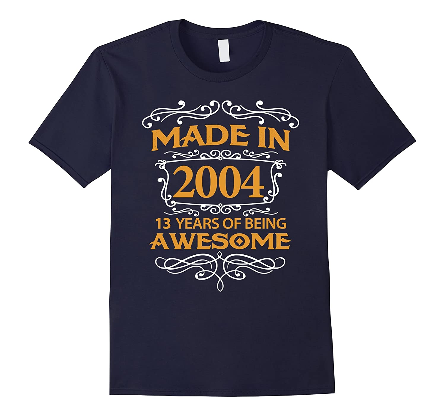 13th Birthday Gift T-Shirt Made In 2004 - 13 Years Old Shirt-TH