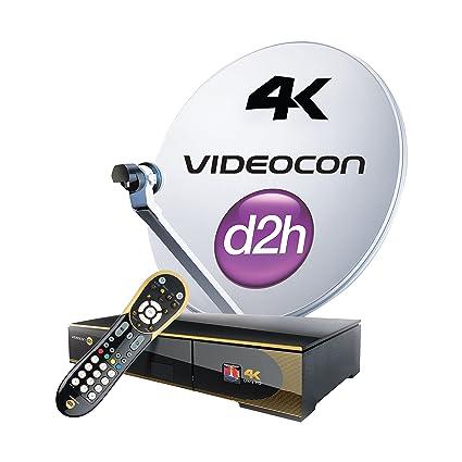 Videocon d2h 4K Ultra HD STB Including Installation: Amazon