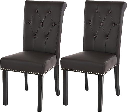 Mendler Set 2X sedie Chesterfield II Ecopelle Sala Pranzo