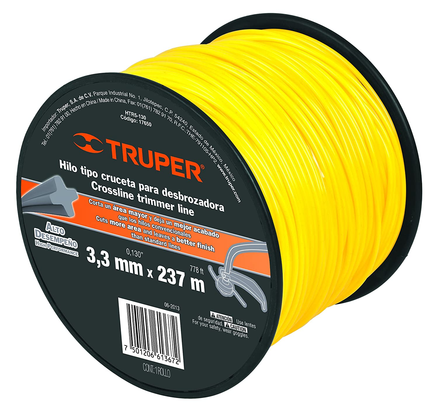 TRUPER HTR5-130 Cross Section String Trimmers Lines 1/8 ...
