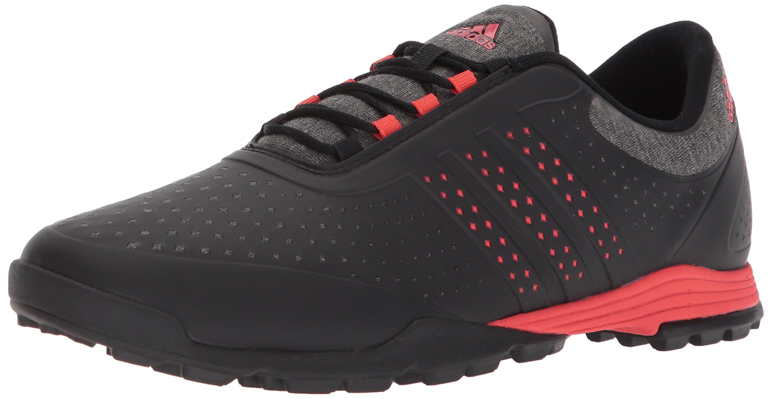 adidas Women's Adipure Sport Golf Shoe, Core Black/Real Coral, 9.5 Medium US by adidas
