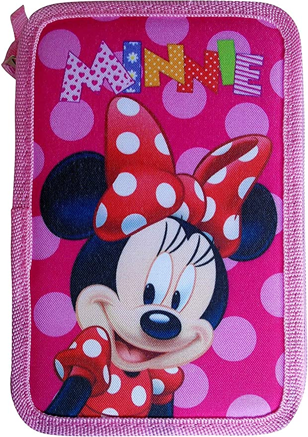 Estuche Plumier Triple Minnie Mouse 3 Cremalleras 3 Pisos 45 Pzas: Amazon.es: Juguetes y juegos