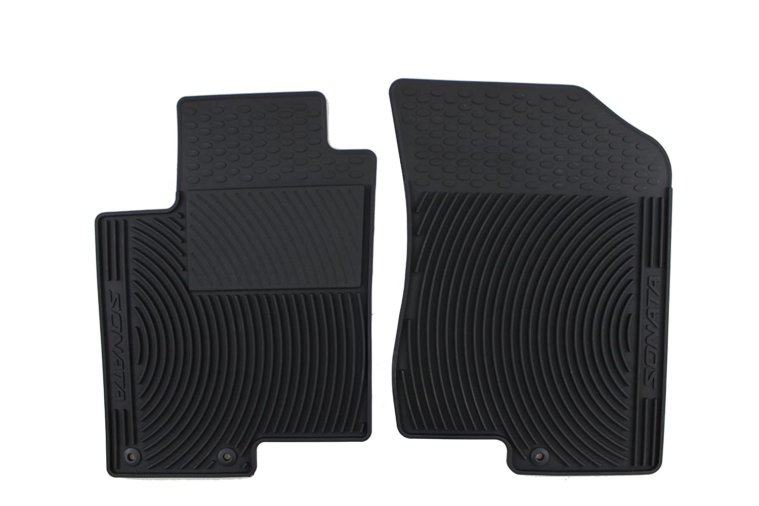 Genuine Hyundai Accessories U8130-3K101 Black Front All Weather Floor Mat with Sonata Logo for Hyundai Sonata