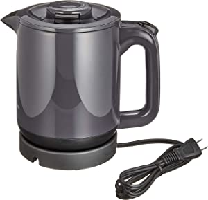 """TIGER Steam-Less Electric Kettle (1.0L)""""WAKUKO"""" PCJ-A101-H (Gray)【Japan Domestic genuine products】"""