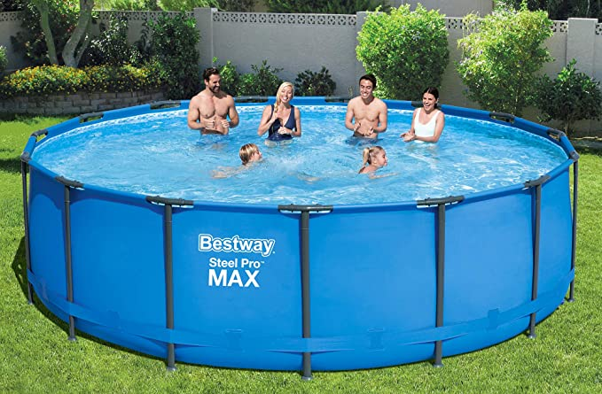 Bestway Steel Pro MAX Frame de Pool, Redondo, 16.015 L 457 x 457 x ...
