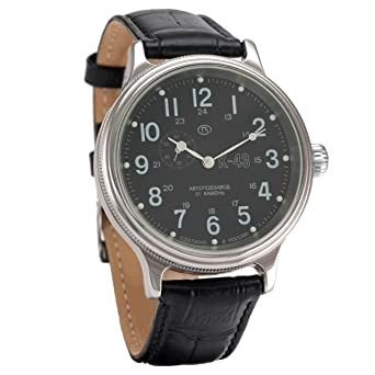 Vostok Retro kirovskie K-43 Segunda Guerra Mundial de Carga para Hombre Correa de Piel Reloj de Pulsera # 540854: Amazon.es: Relojes