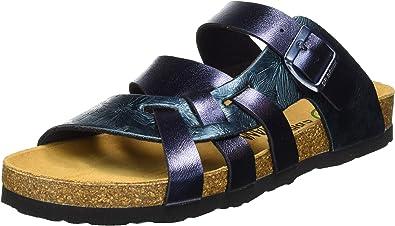 Brinkmann Mules dans Grandes Tailles Bleu 701254 5 grandes Chaussures Femmes Dr