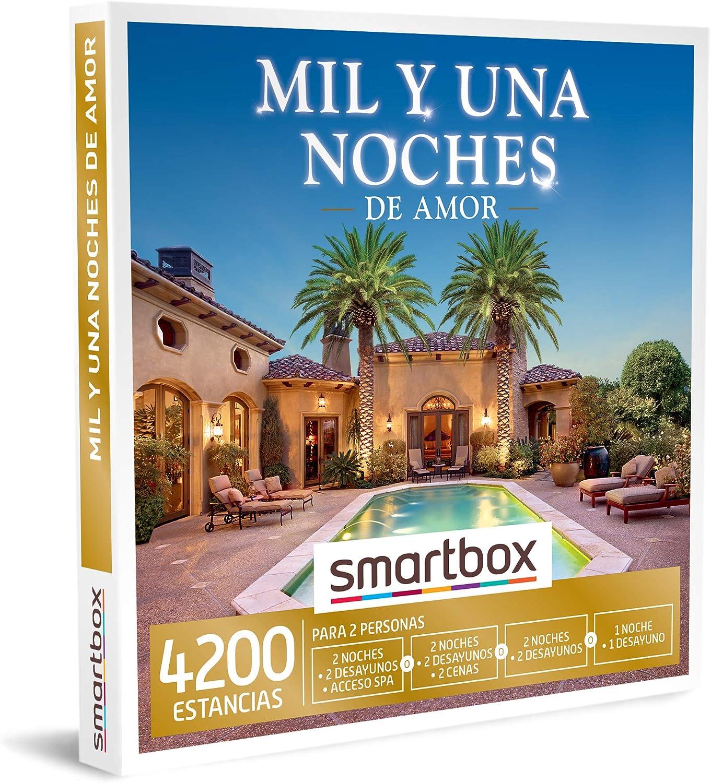 SMARTBOX - Caja Regalo - Mil y una Noches de Amor - Idea de Regalo - 2 Noches con Desayuno y Acceso a SPA o Cena o 1 o 2 Noches con