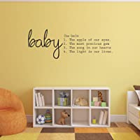 """Baby Vinyl Wall Art Sticker with Quote - 20"""" x 50"""" - Nursery Room Wall Decoration Baby Shower Decorations - for Boy or Girl - Nursery Wall Art Peel Off Sticker"""