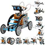 Sillbird STEM 12-in-1 Education Solar Robot Toys -190 Pieces DIY Building Science Experiment Kit for Kids Aged 8-10 and Older