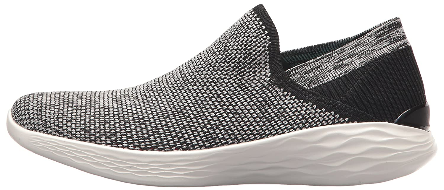 Skechers Women's You-14958 Sneaker B071K16JPB 10.5 B(M) US|Black/White