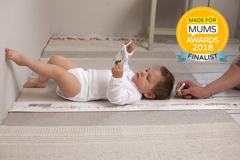 Talltape Auswahl an Designs um Kinder von der Geburt bis zum Erwachsenenalter messen zu k/önnen - Tragbare Rosa Roll-up Messlatte Plus 1 Sharpie Mini Marker Pen