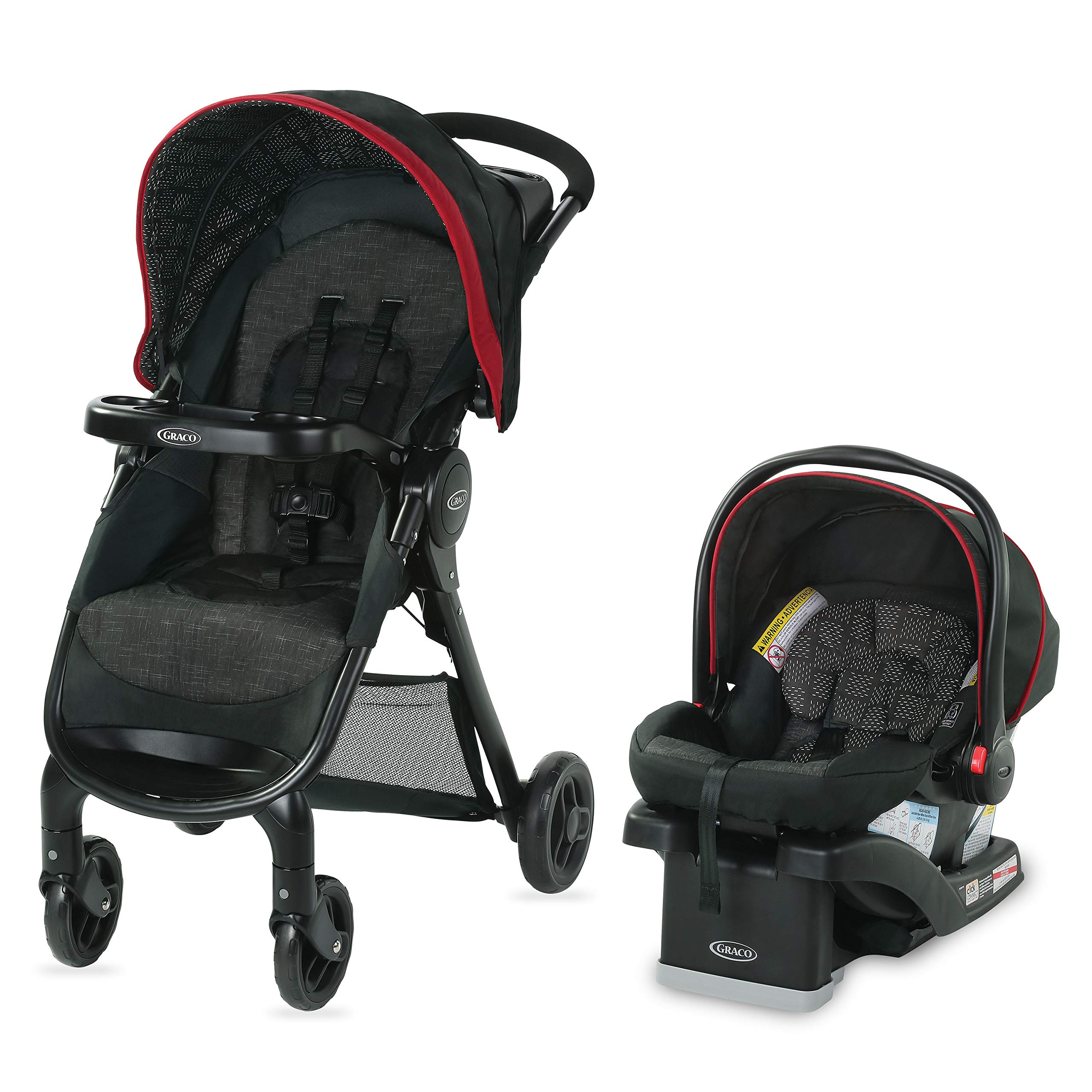 Graco FastAction SE Travel System | Includes FastAction SE Stroller and SnugRide 30 LX Infant Car Seat, Hilt by Graco