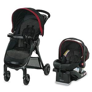 Graco FastAction SE Travel System   Includes FastAction SE Stroller and SnugRide 30 LX Infant Car Seat, Hilt