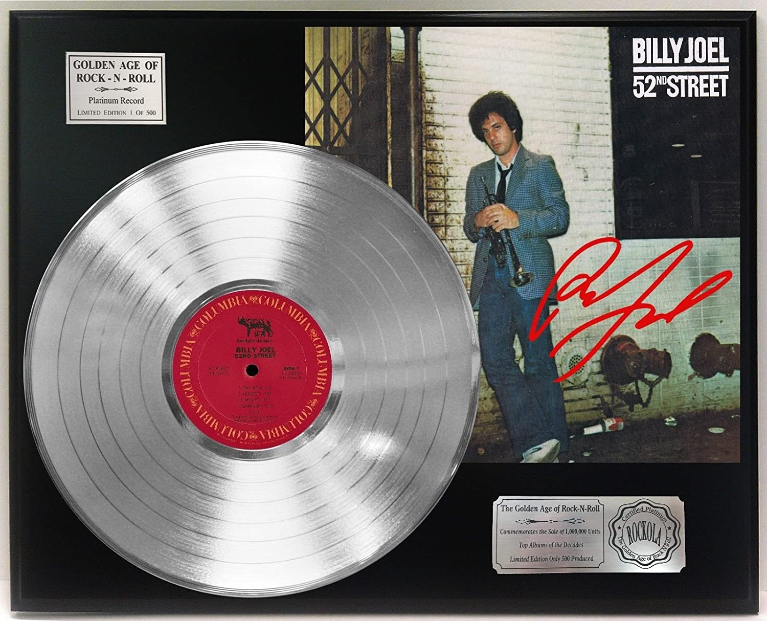 Billy Joel 52nd Street Platinum Lp Signature Display C3