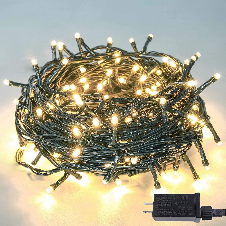200 LED 66ft Mini Fairy String Twinkle Star white Outdoor Christmas Tree Lights