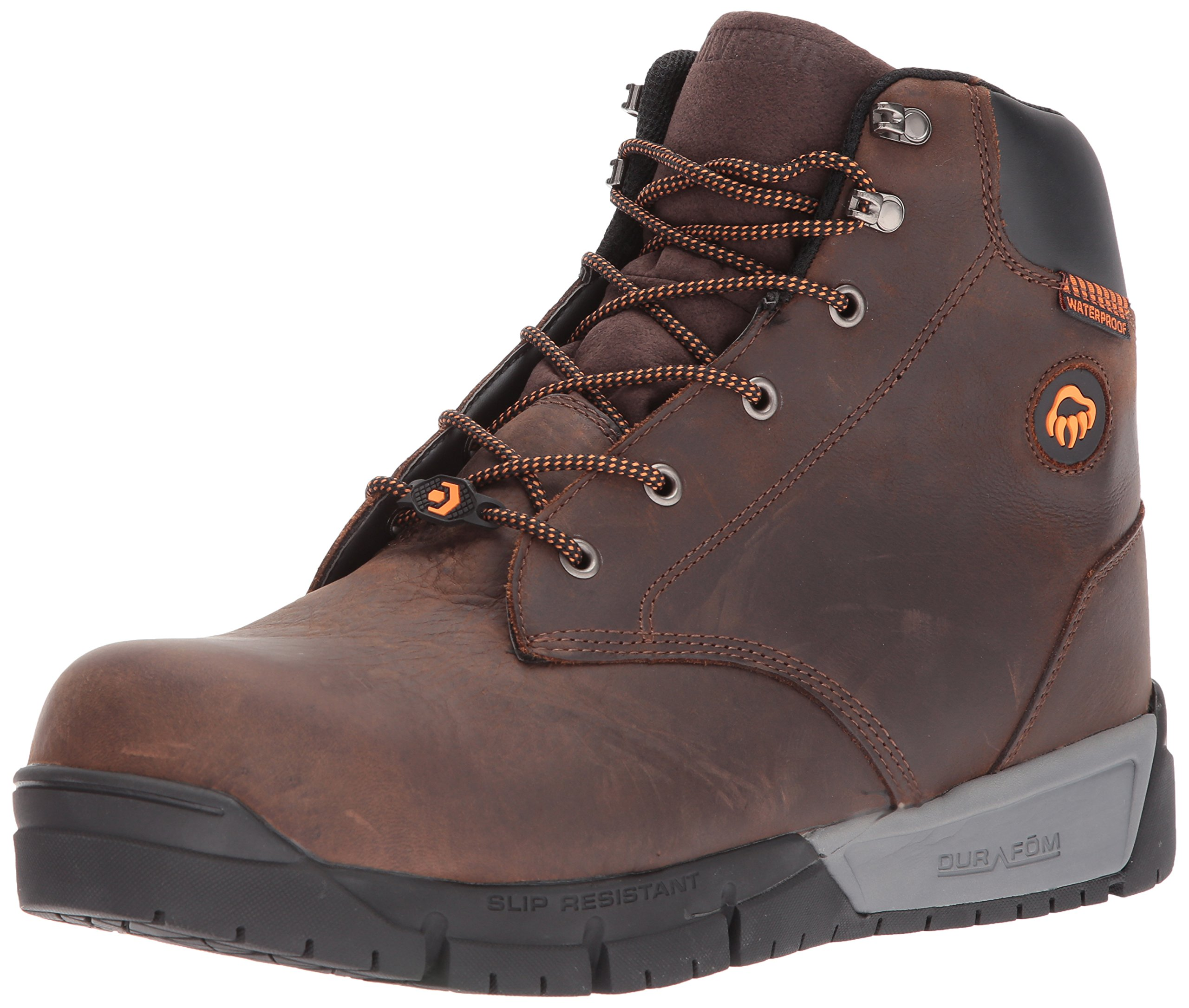 Wolverine Men's Mauler LX Composite Toe Waterproof Work Boot, Brown, 8 3E US