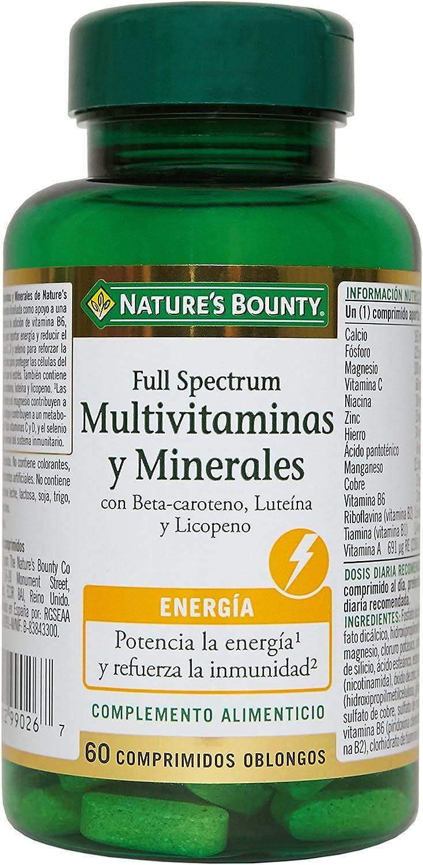 Natures Bounty Full Spectrum Multivitaminas y Minerales - 60 ...