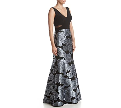 Xscape womens Long Mermaid Brocade Skirt With Ity Top sleeveless Dress - -: Amazon.co.uk: Clothing