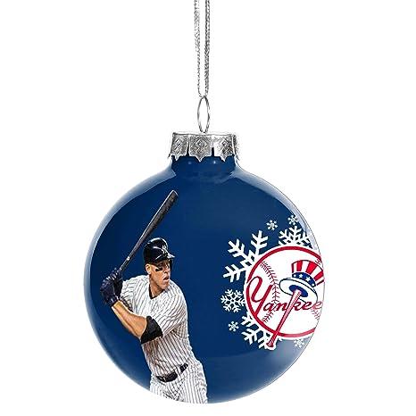 Image Unavailable - Amazon.com : FOCO Glass Ball Christmas Ornament New York Yankees