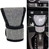 Bling Car Gear Shift Knob Cover for Women/Girls/Lady,Bling Rhinestones Car Accessories Universal Fit for SUV Truck (1X…