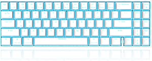 RK71 Mechanical Keyboard 71 Keys 70% LED Backlit Compact Gaming Keyboard, Tenkeyless Wired/Wireless Bluetooth Portable Gaming/Office with Stand-Alone Arrow Keys for Mac Windows (Red Switch-White)