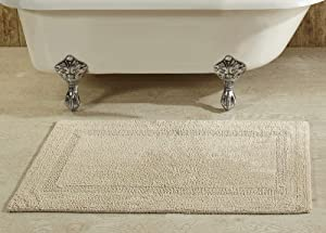 """Better Trends Lux Collection is Ultra Soft Plush and Absorbent Tufted Bath Mat Rug 100 Percent Cotton in Vibrant Colors, 24"""" x 40"""" Rectangle, Sand"""