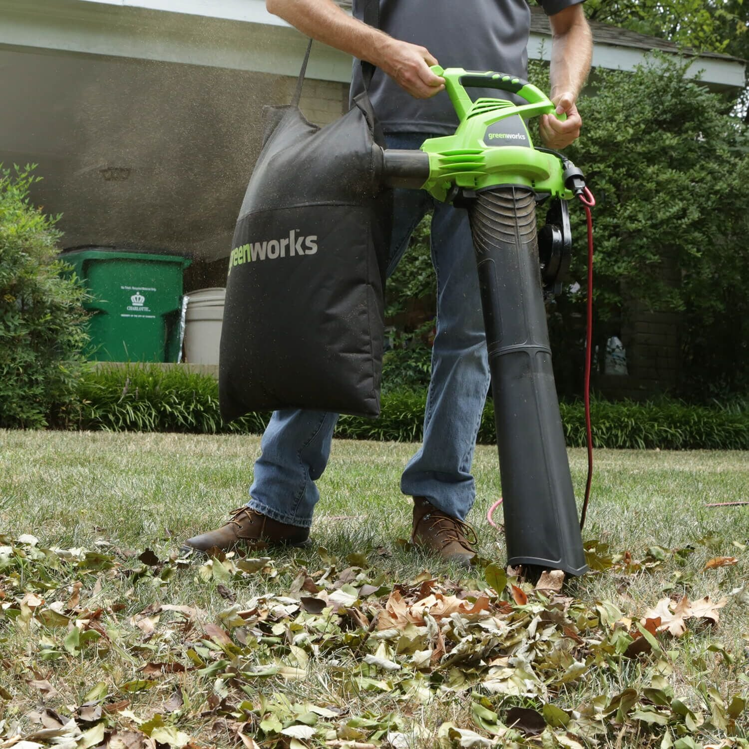 Greenworks 2 Speed 230 MPH Corded Blower/Vacuum 24022