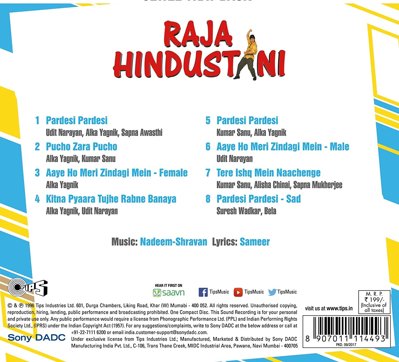 Various - Raja Hindustani - CD - Amazon com Music