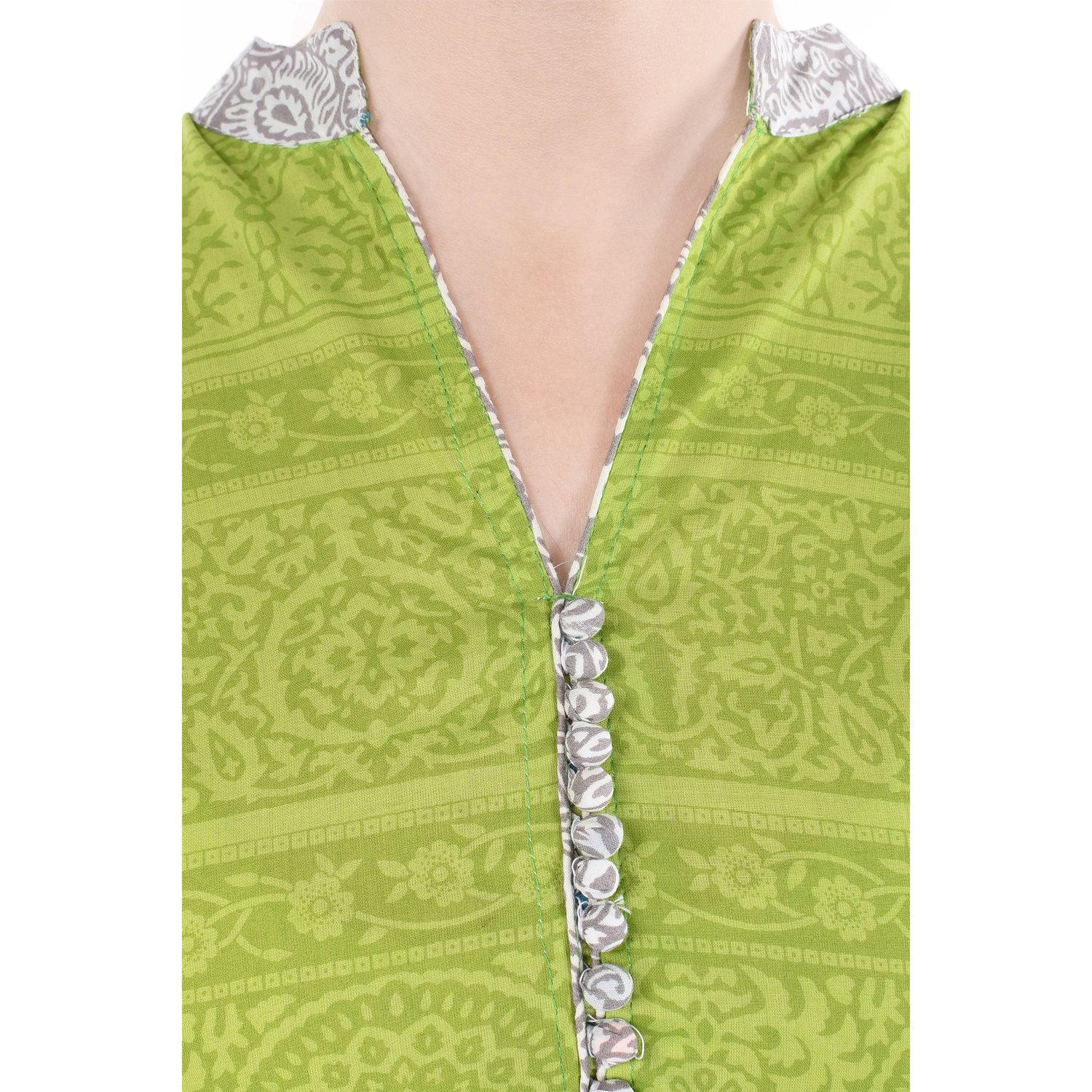 Chichi Women 3/4 Sleeve Tunic Embroidery Top Kurti Blouse (Yellow)(Women's Day Special),Medium,Fire-yellow by CHI (Image #3)