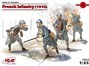 ICM 035691 – Maqueta de de plástico, 1/35 WWI Francés de Infantería: Amazon.es: Juguetes y juegos