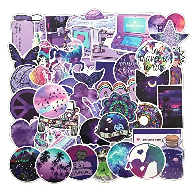 KONLOY Decal Stickers,Meet Holiday Stranger Things Movie Stickers Laptop Sticker Waterproof Vinyl Stickers for Teens Girls Water Bottles Hydroflasks Skateboard Luggage (Purple Vsco Stickers): Toys & Games