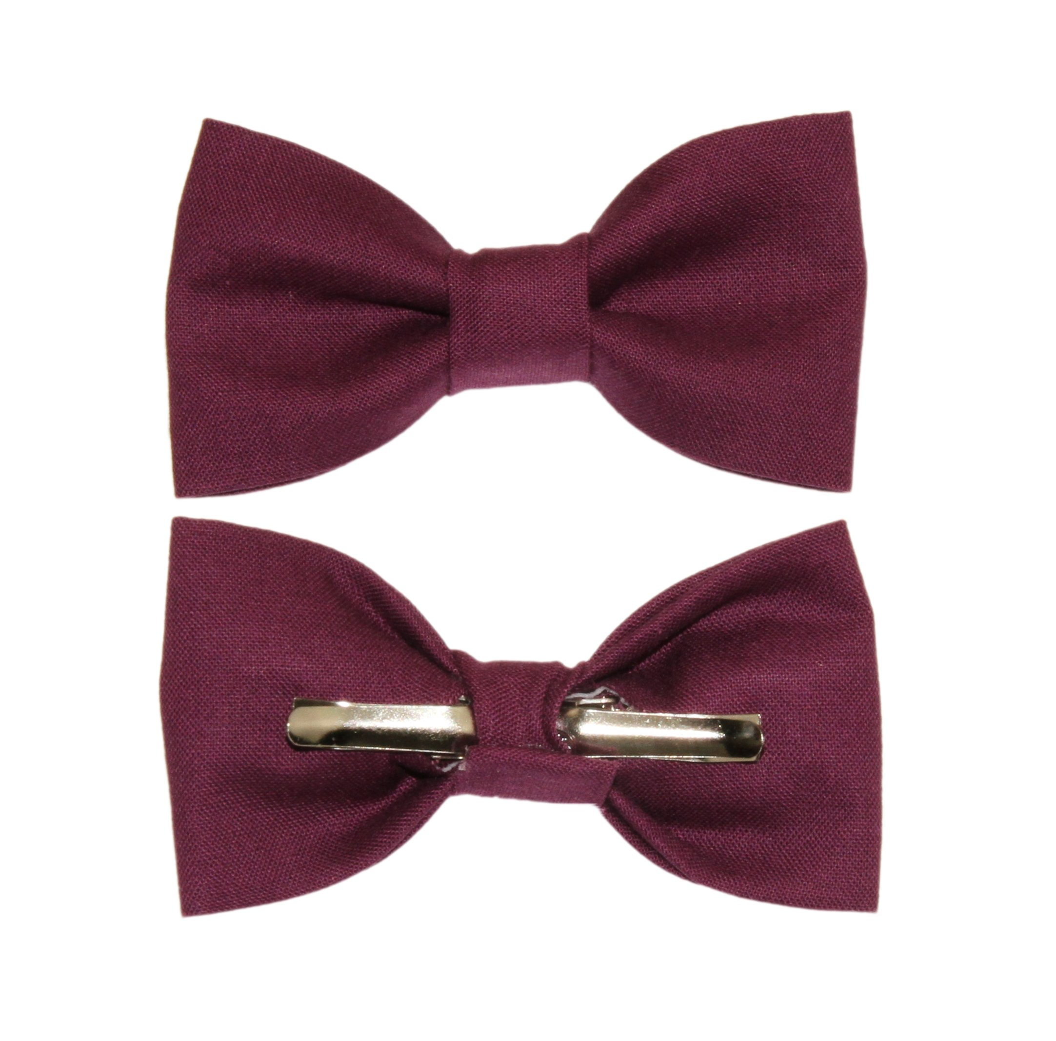 Toddler Boy 4T 5T Eggplant Purple Clip On Cotton Bow Tie amy2004marie