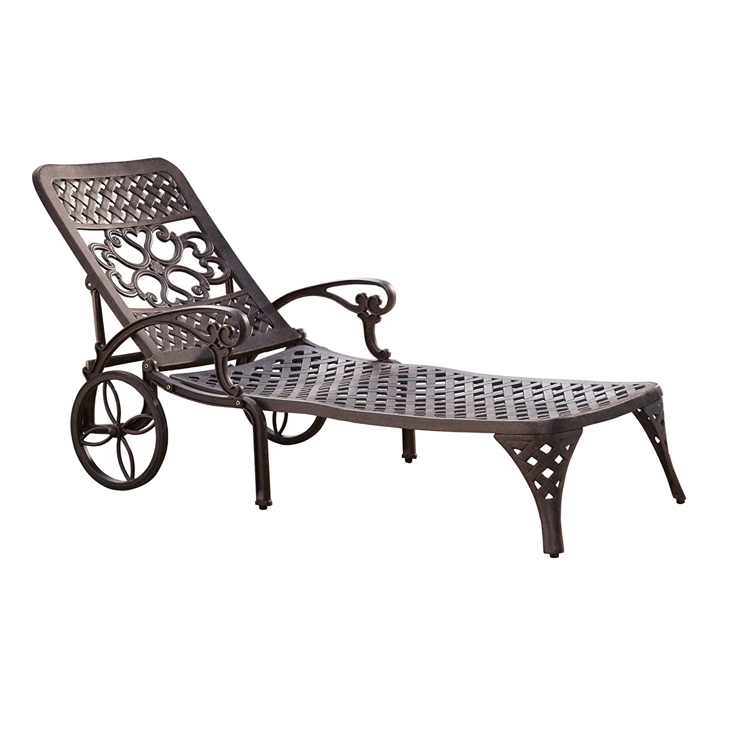 amazoncom home styles biscayne chaise lounge chair black patio lounge chairs patio lawn u0026 garden