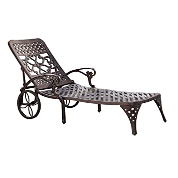 Amazoncom Home Styles Biscayne Chaise Lounge Chair Bronze