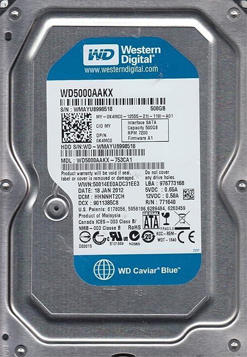 Western digital wd5000aakx-753ca1 pcb 2060-771640-003 rev a, 500.