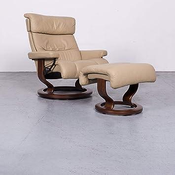 Superb Stressless Memphis L Designer Leder Sessel Beige Echtleder Home Interior And Landscaping Ologienasavecom