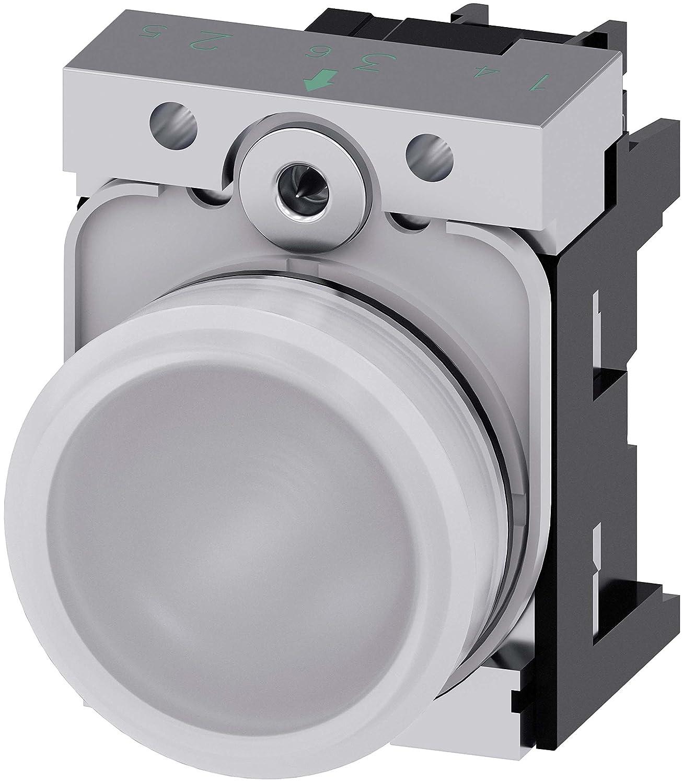 Siemens 3SU1152-6AA60-1AA0 24V Blanco indicador de luz para ...