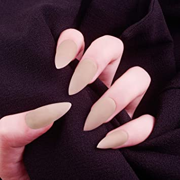 Amazon.com: Laza - 28 uñas postizas de colores de Stiletto ...
