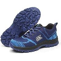 Ali-tone Mujer Hombre Zapatillas de Seguridad Deportivos con Puntera de Acero S3 Zapatos de Trabajo Entrenador Unisex…