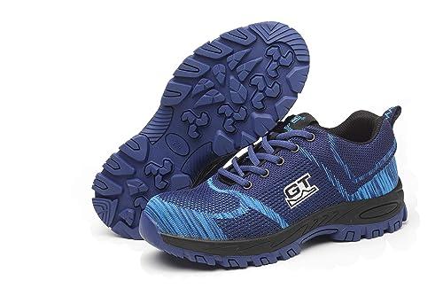 Ali-tone Mujer Hombre Zapatillas de Seguridad Deportivos con Puntera de Acero S3 Zapatos de Trabajo Entrenador Unisex Zapatillas de Senderismo ranspirables ...