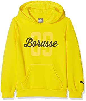 Puma Sudadera ntilde;os con Capucha del BVB Borussia Dortmund, Otoño-Invierno, Infantil, Color Cyber Yellow, tamaño 140: Amazon.es: Deportes y aire libre