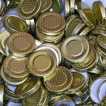 200 Stück X To 82 mm Gold Schraubdeckel für Gläser • Twist Off Deckel Verschluss